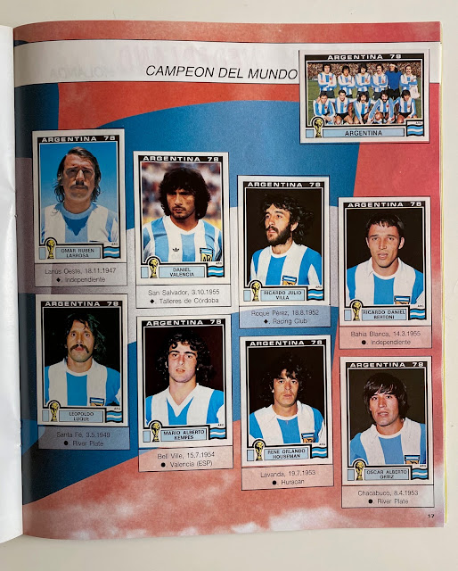 figurine Argentina 78 World Cup Story