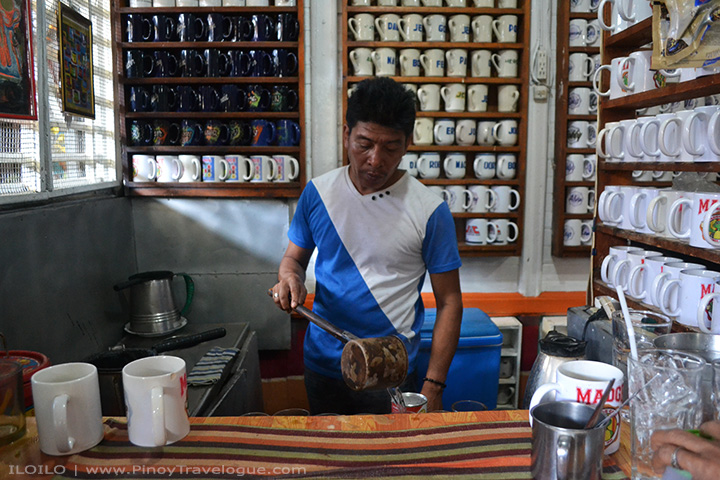 Madge Cafe's barista preparing some brew
