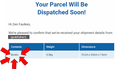 Your parcel will be dispatched soon! Contents: Books.