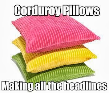 Corduroy Pillows Making Headlines Meme Image