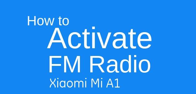How to Active FM Radio?