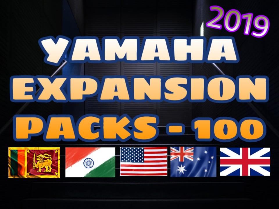 SRILANKAN,INDIAN,ARABIAN YAMAHA EXPANSION PACKS - 2019 - TS