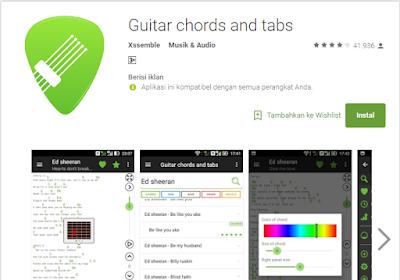 Aplikasi Chord Gitar Terlengkap