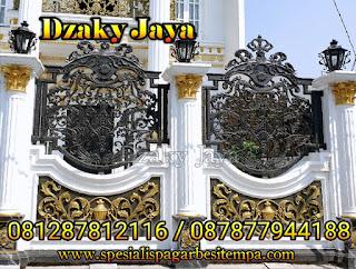 Pemasangan pagar tempa mewah rumah mewah klasik Jakarta Utara