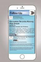 Tampilan Konsep Aplikasi Si Delta pada Menu Follow Up