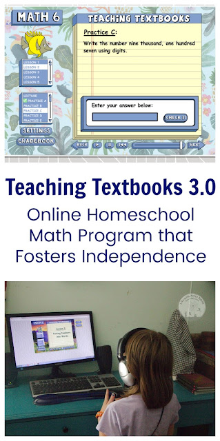 Review of the New Teaching Textbooks 3.0 Homeschool Math Online