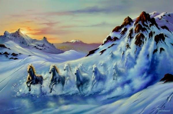 Avalanche - Jim Warren pinta sonhos e ilusões de maneira fantástica.