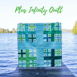 Plus Infinity Quilt - Modern Plus Quilt Pattern | Shannon Fraser Designs #plusquilt #quiltsinthewild