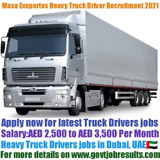 Masa Exepertes Heavy Truck Driver Recruitment 2021-22
