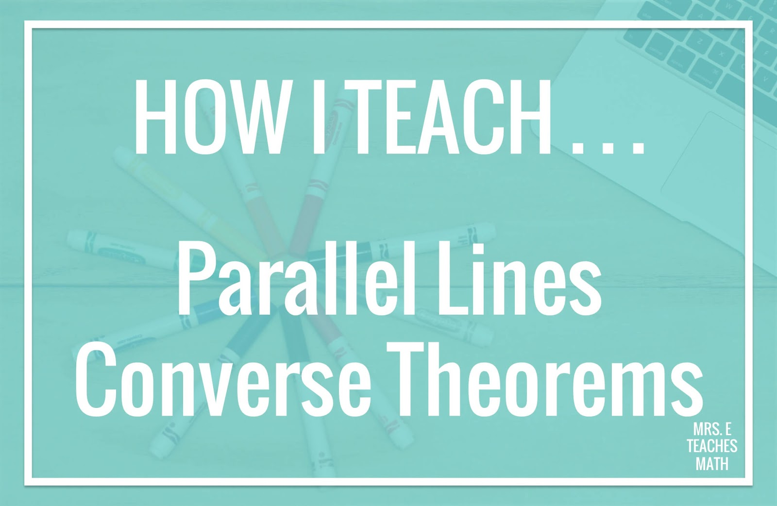 These teaching tips will help high school geometry students understand parallel lines proofs.  I love to use this free activity before I start the lesson (class notes).