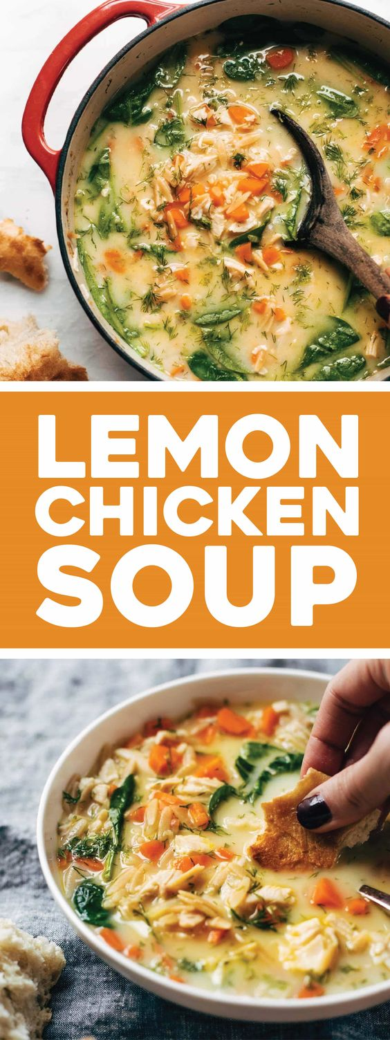 Lemon Chicken Soup With Orzo