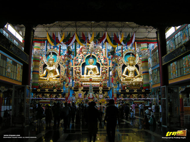 Padmasambhava Buddhist Vihara - popularly known as Golden temple in Namdroling Monastery, Bylakuppe, Mysore district, Karnataka