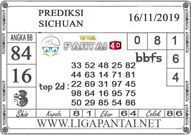 """PREDIKSI TOGEL """"SICHUAN"""" PANTAI4D 16 NOVEMBER 2019"""