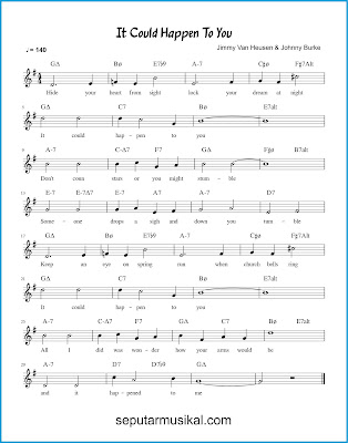 It Could Happen to You chords jazz standar