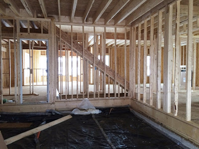 Ryan Homes garage interior framing