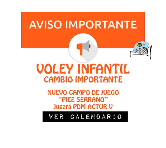 VOLEY INFANTIL: Cambio de campo de Juego Piee Serrano