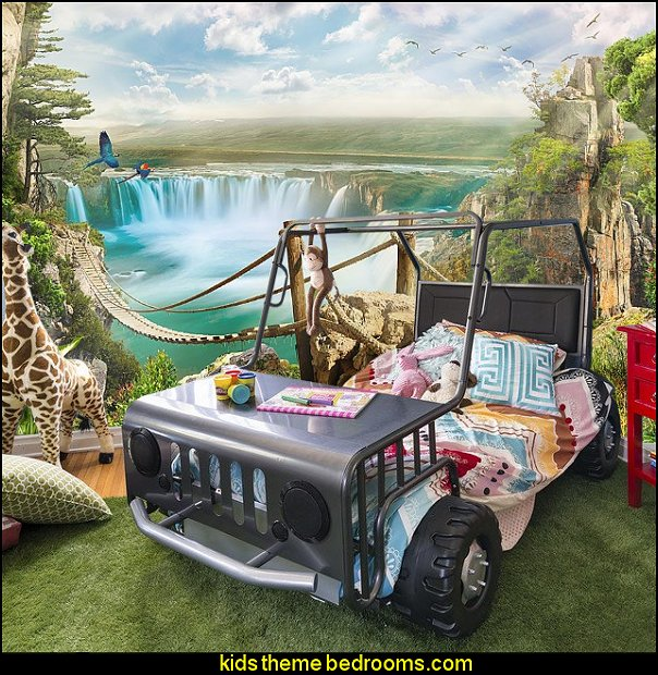 Off Road Twin Car Bed jungle safari theme bedroom furniture. Decorating theme bedrooms   Maries Manor  jungle theme bedrooms