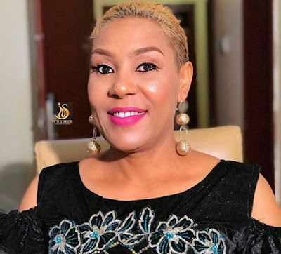 Nigerian female celebrities with natural blonde hairstyle