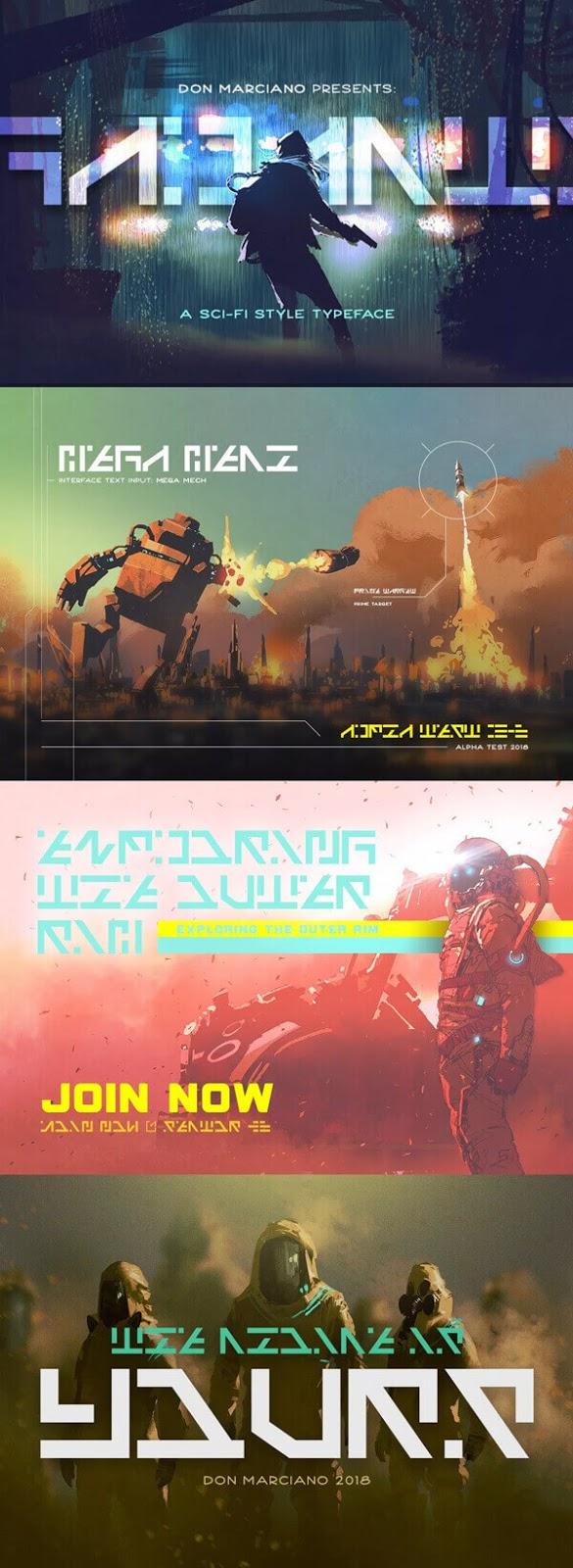 Free Font - Galactico Sci-fi Free Font