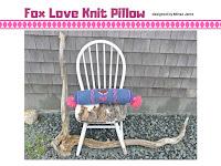 Fox Love Pillow designed by Minaz Jantz