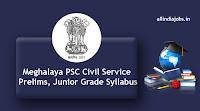 Meghalaya PSC Civil Service Prelims Syllabus