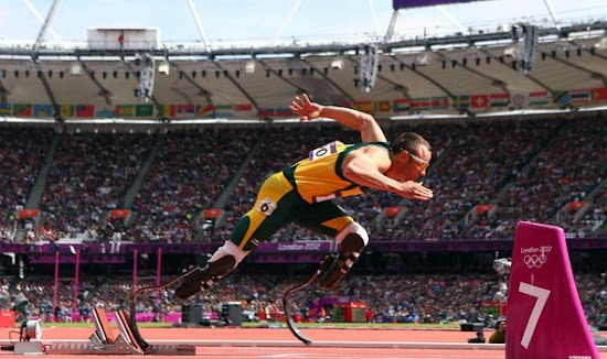 Stunning and Amazing Athlete Oscar Pistorius in London Olympic 2012