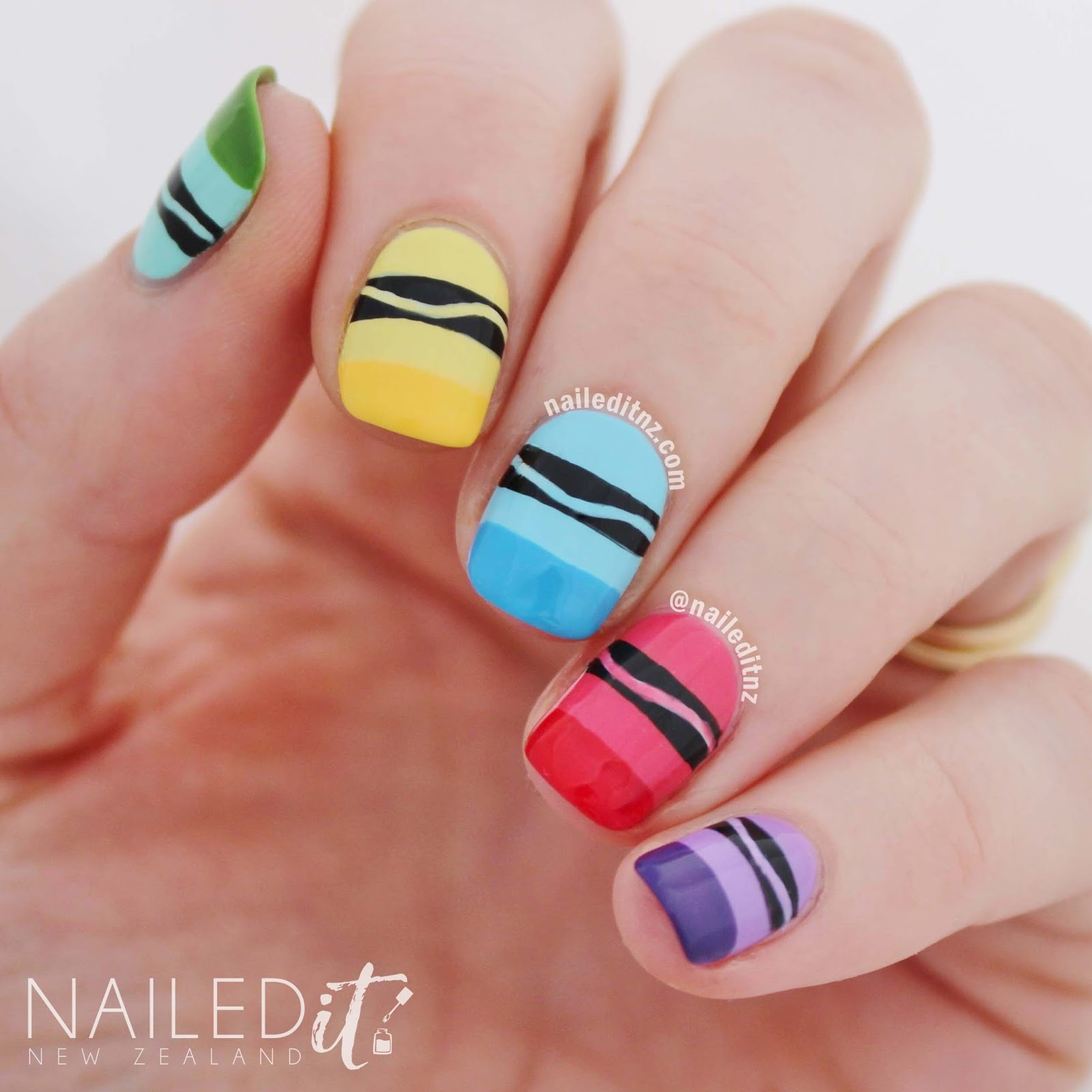 Crayon Nail Art | Inspired by Crayola