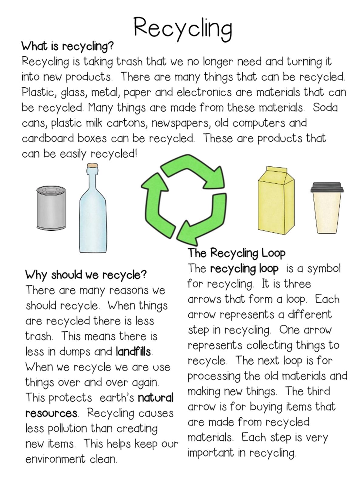 Classroom Freebies Too Earth Day Recycling Closeread