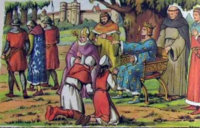 Rei Luís IX realiza tribunal no Bois de Vincennes