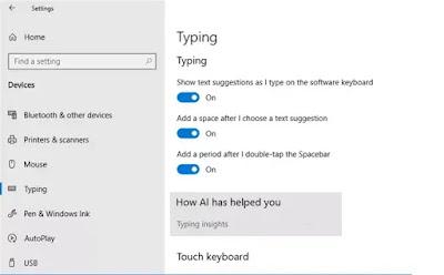 Cara menonaktifkan fitur Typing Insights Windows 10-1
