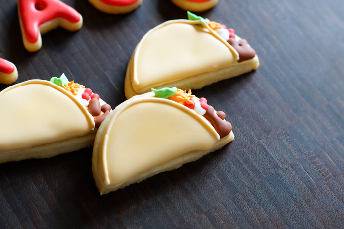 Taco decorated cookies