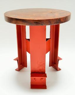 "Tea Table - Narrow Base with 20"" Wood Table Top"