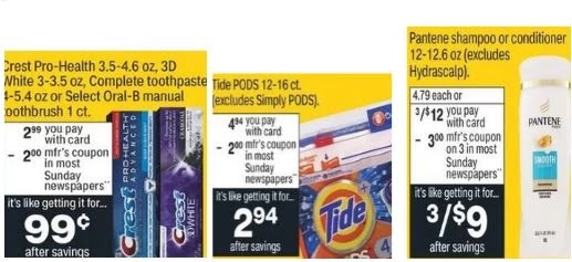 crest pantene and tide deal