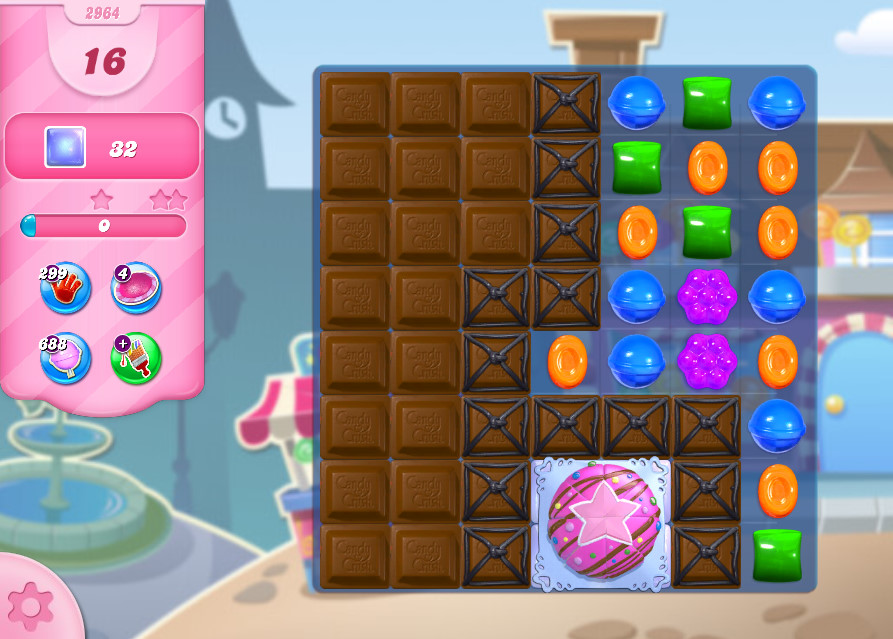 Candy Crush Saga level 2964
