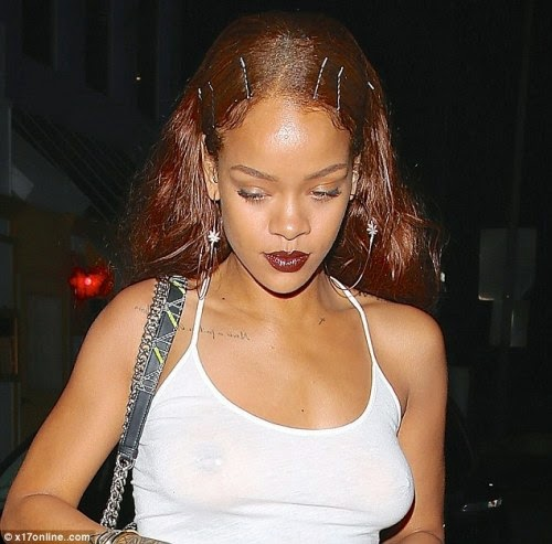 Rihanna Braless naked (11 foto), hacked Fappening, Twitter, see through 2018