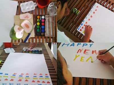 Ezra's Weekend Project : Giant New Year Greeting Card