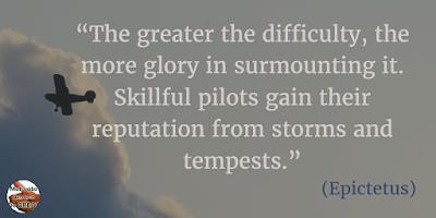 "71 Quotes About Life Being Hard But Getting Through It: ""The greater the difficulty, the more glory in surmounting it. Skillful pilots gain their reputation from storms and tempests."" - Epictetus"