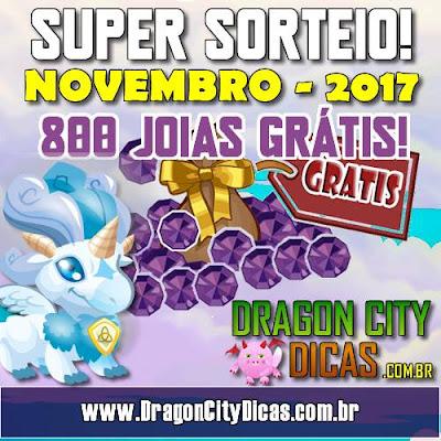 Super Sorteio de 800 Joias Grátis - Novembro 2017