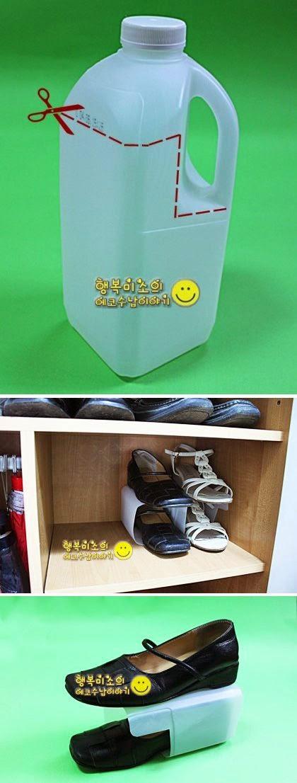 """""""Idea para ordenar zapatos en poco espacio"""""""