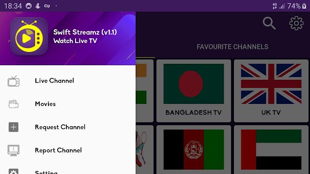 تحميل تطبيق SWIFT STREAMZ 2020 لمشاهدة القنوات المشفرة العربية والعالمية 2020