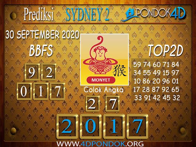 Prediksi Togel SYDNEY 2 PONDOK4D 30 SEPTEMBER 2020