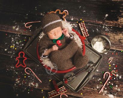 Handknit baby gingerbread man suit newborn sitter photo prop