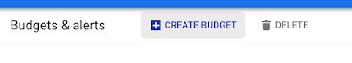 GCP create budget button