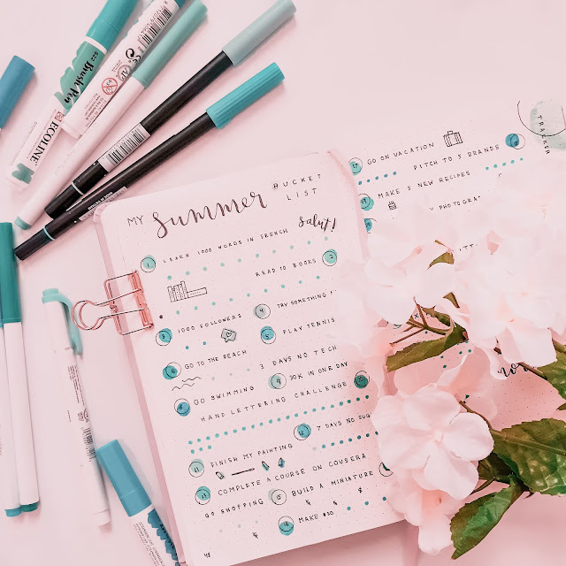 My Bullet Journal Summer Bucket List + How You Can Create One Too!