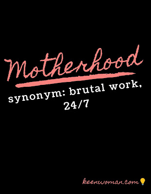 brutal hard motherhood