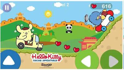 Game Hello Kitty Petualangan Balap Mobil