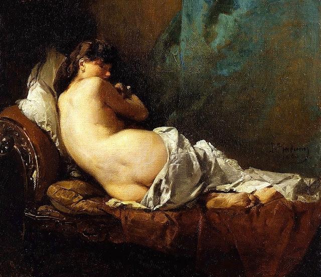 Domenico Induno - nudo di schiena - arte - dipinti