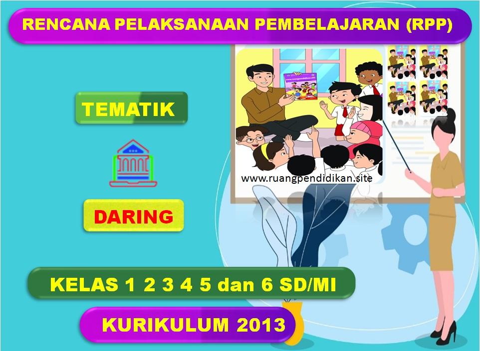 Rpp Daring 1 Lembar Tematik Kelas 1 2 3 4 5 6 Sd Mi Semester 1 Kurikulum 2013 Revisi Tahun 2020 Ruang Pendidikan