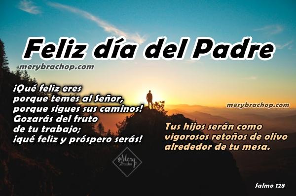salmo versiculo biblico frases cristianas para el padre, papá imagen con cita bíbilica