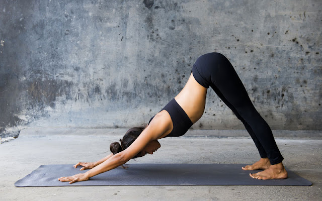 The Downward dog position